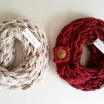 Linen and cranberry scarves going out to the mail boxhellip