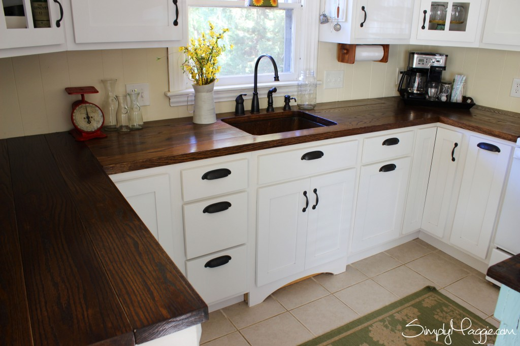 12 diy countertops that will blow your mind - Diy faux butcher block countertops ...