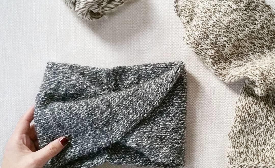Pattern coming soon!  #wintercollection #wool #turbanheadband #knit #knitting #knitstagram #igknitters #knittersofinstagram #tweed #yarn #yarnlove #knittinglove
