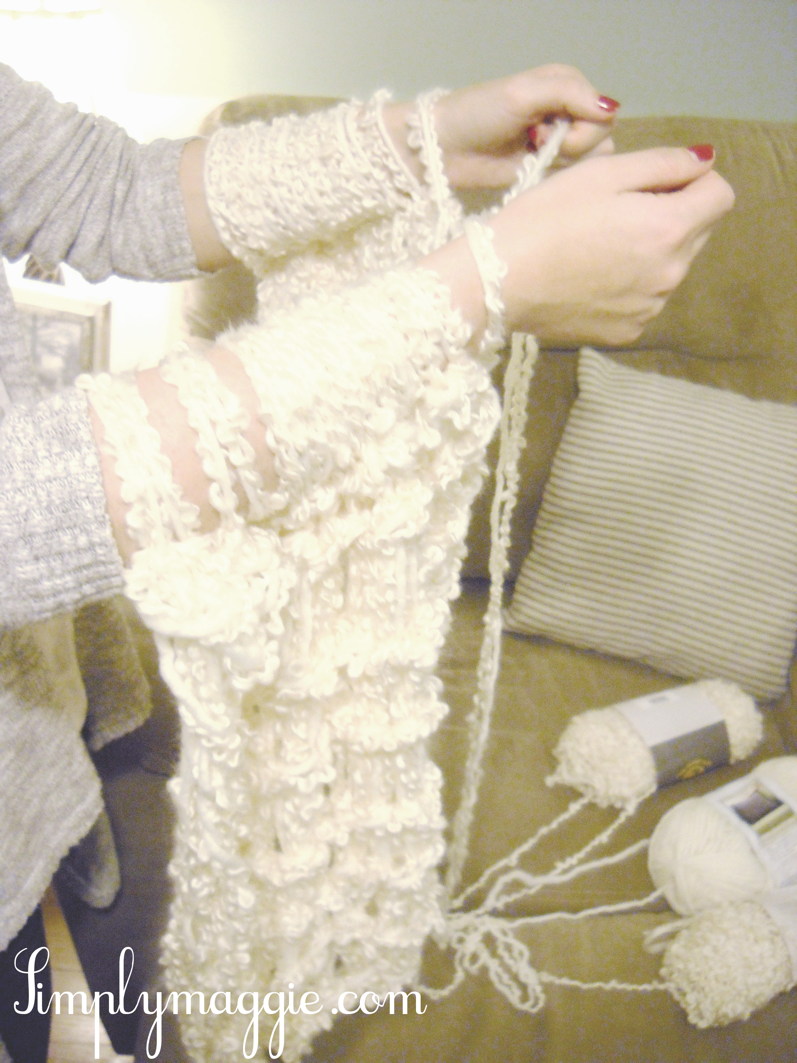 Arm Knitting Instructions : Arm knit a blanket in one hour simplymaggie