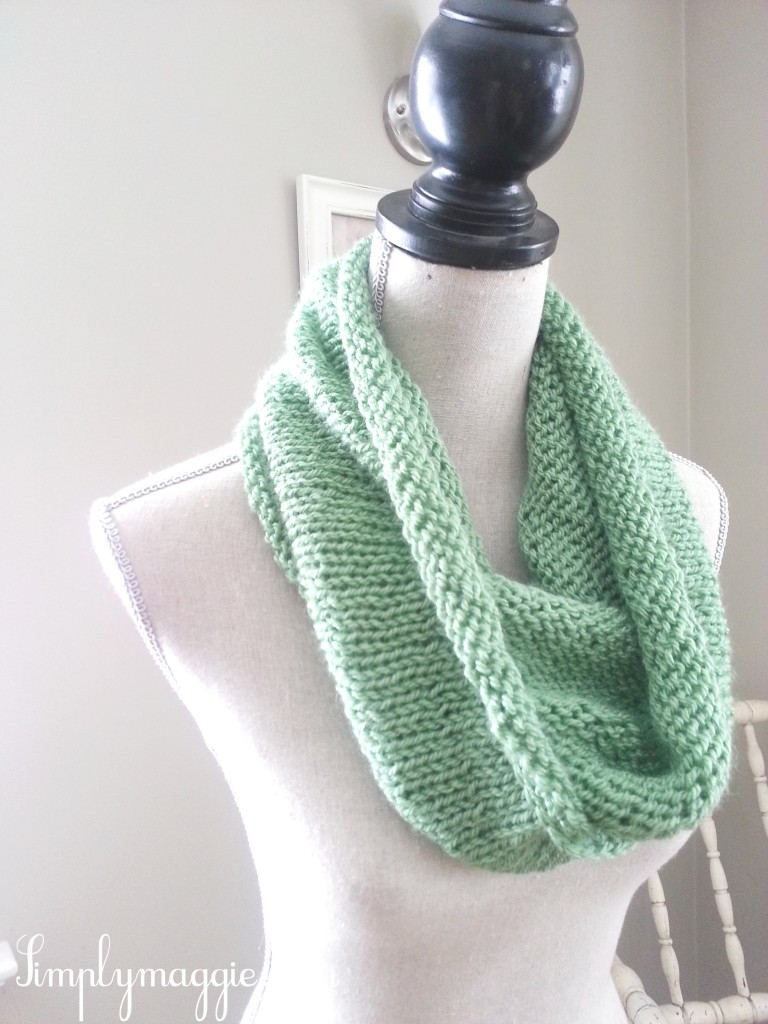 Spring Scarf Knitting Pattern : Spring Knit Infinity Scarf SimplyMaggie.com