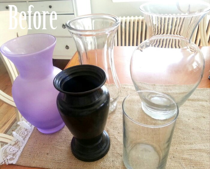 Spray Paint Project 1 Vases Simplymaggie