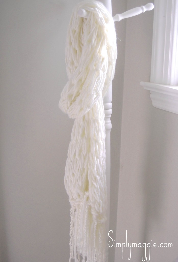 how to create a fringe on a scarf