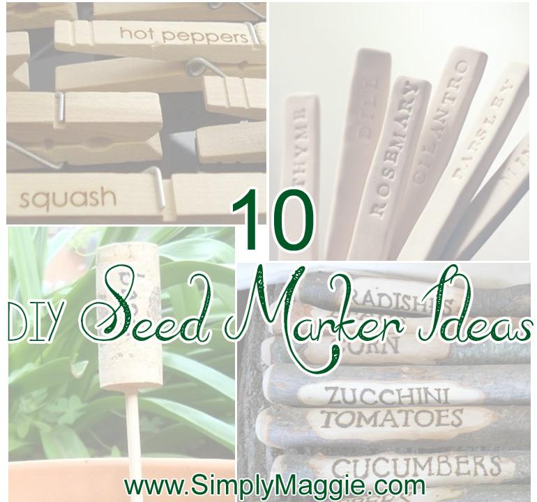 10 DIY Seed Marker Ideas www.simplymaggie.com