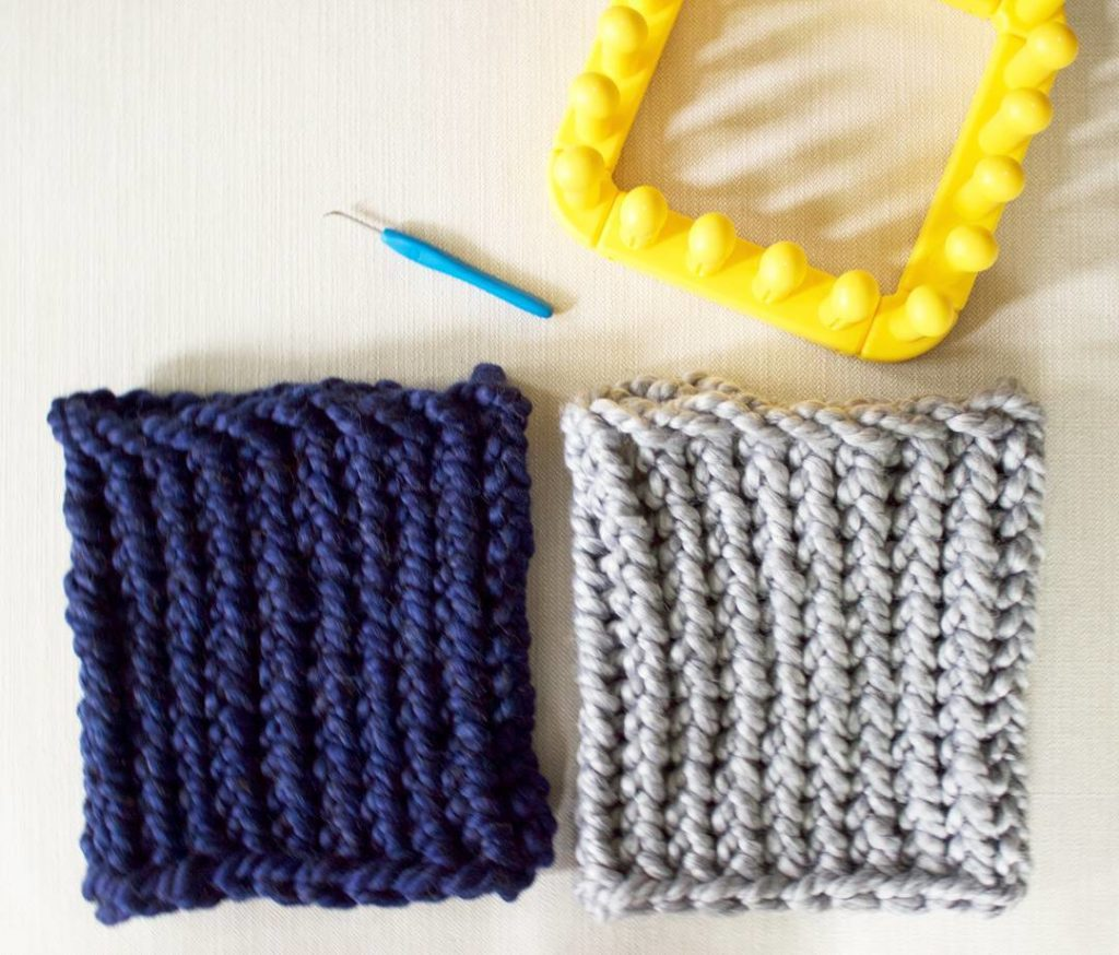how to loom knit a cowl in 30 minutes with zippy loom