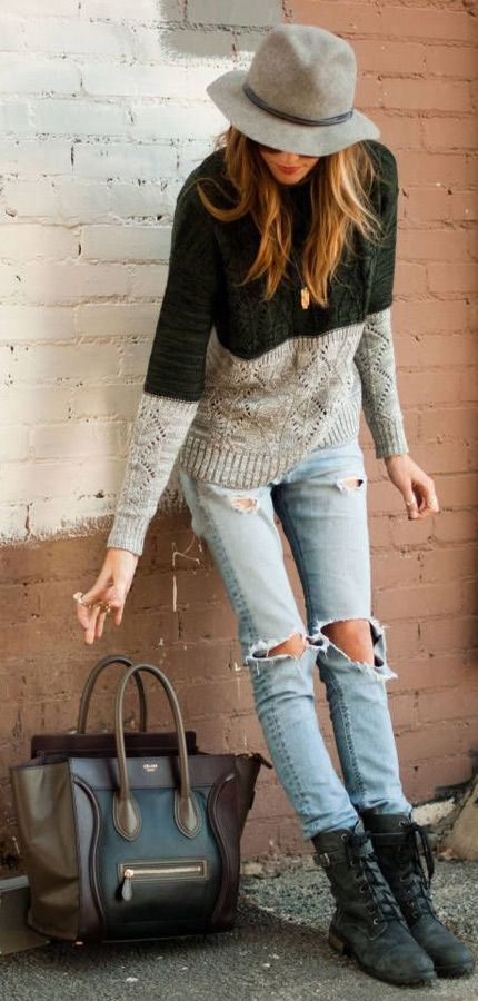 Can't go wrong with some casual jeans and a comfy sweater.