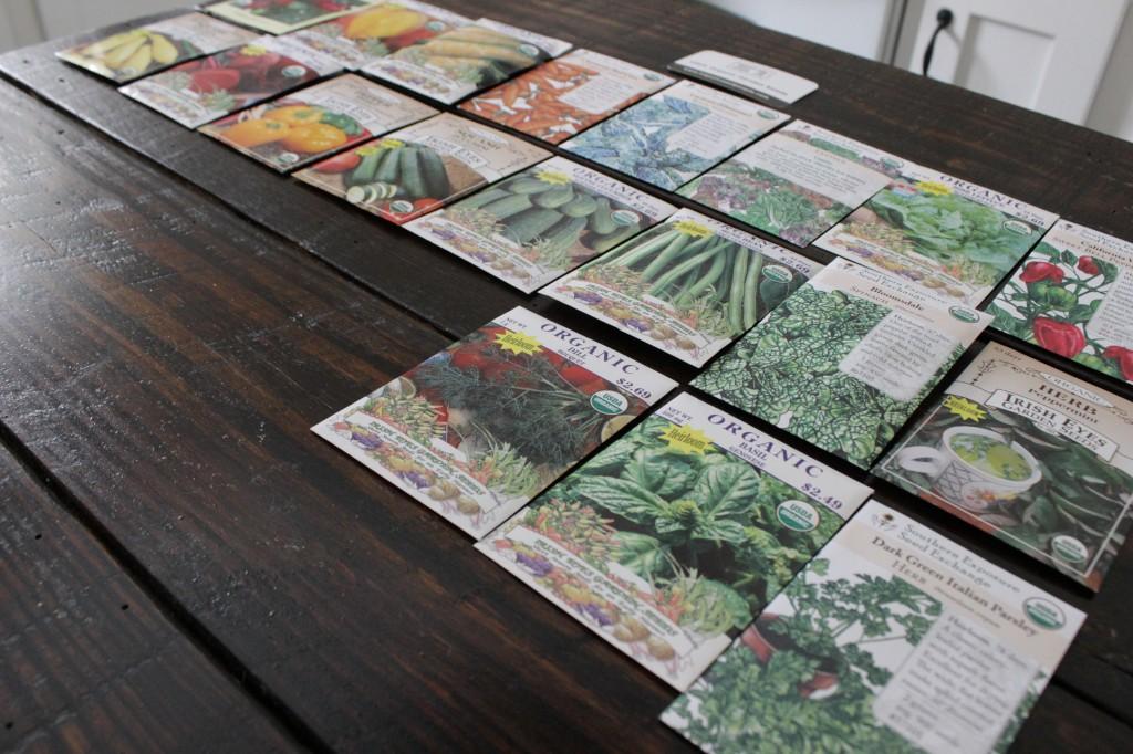 All organic veggies and herbs
