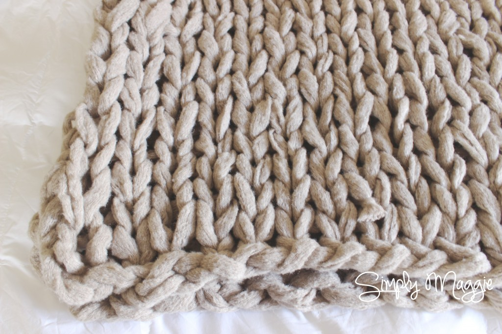 Knitting A Blanket With Arms : Arm knit a blanket in minutes simplymaggie
