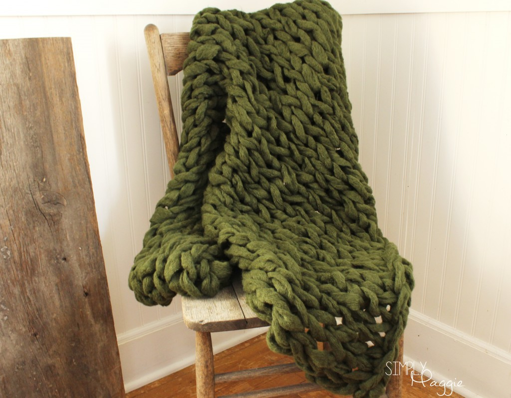 Arm Knitting Blanket : Arm knit a blanket in minutes simplymaggie