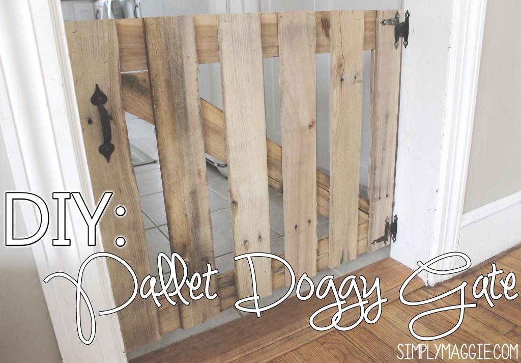 DIY: Pallet doggy gate www.SimplyMaggie.com