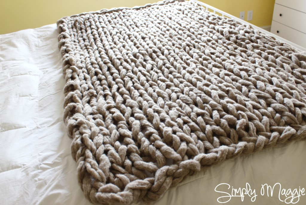 Arm Knitting Step By Step : Arm knit a blanket in minutes by simply maggie simplymaggie