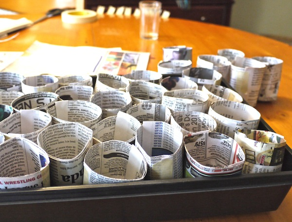 News Paper Containers