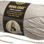 Lion Brand Wool Ease Thick and Quick yarn in the color Linen