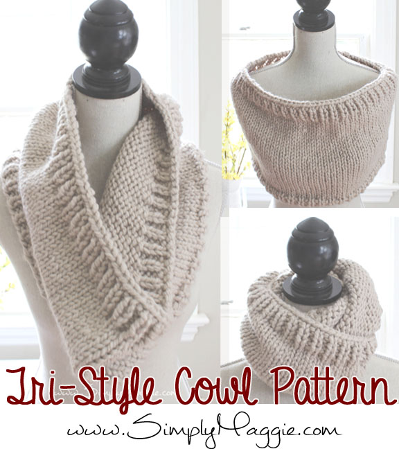 Pattern For Knitting Socks : Chunky Tri-Style Knit Cowl Pattern (FREE!) SimplyMaggie.com