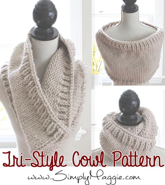FREE Tri-Style Cowl Pattern www.SimplyMaggie.com