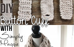 DIY Button Cuff for Infinity Scarf www.SimplyMaggie.com