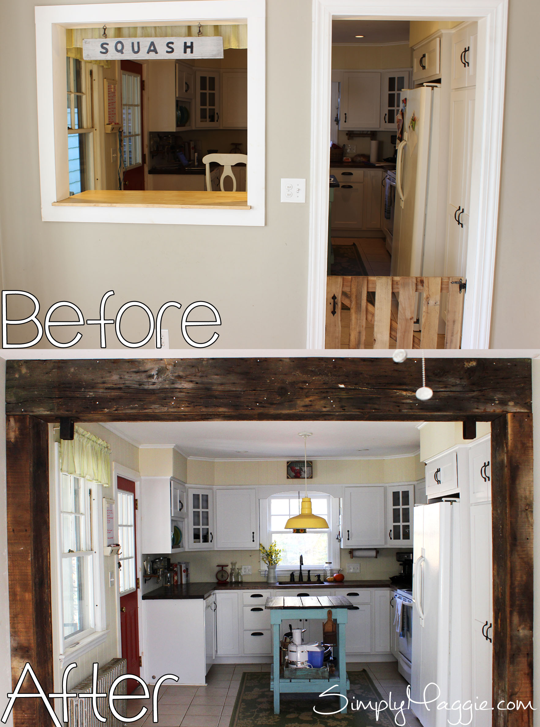 Kitchen Wall Demolition and Renovation | SimplyMaggie.com
