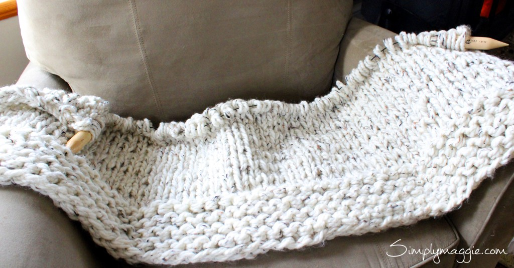 Giant Knitting-Lush Blanket Pattern by SimplyMaggie.com