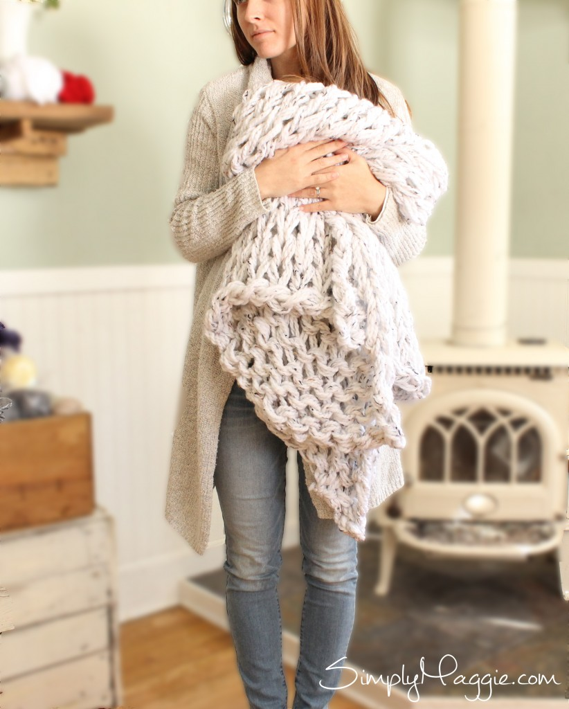 Mega Knit a Blanket in 1 Hour with Simply MaggieBlanket 3 copy