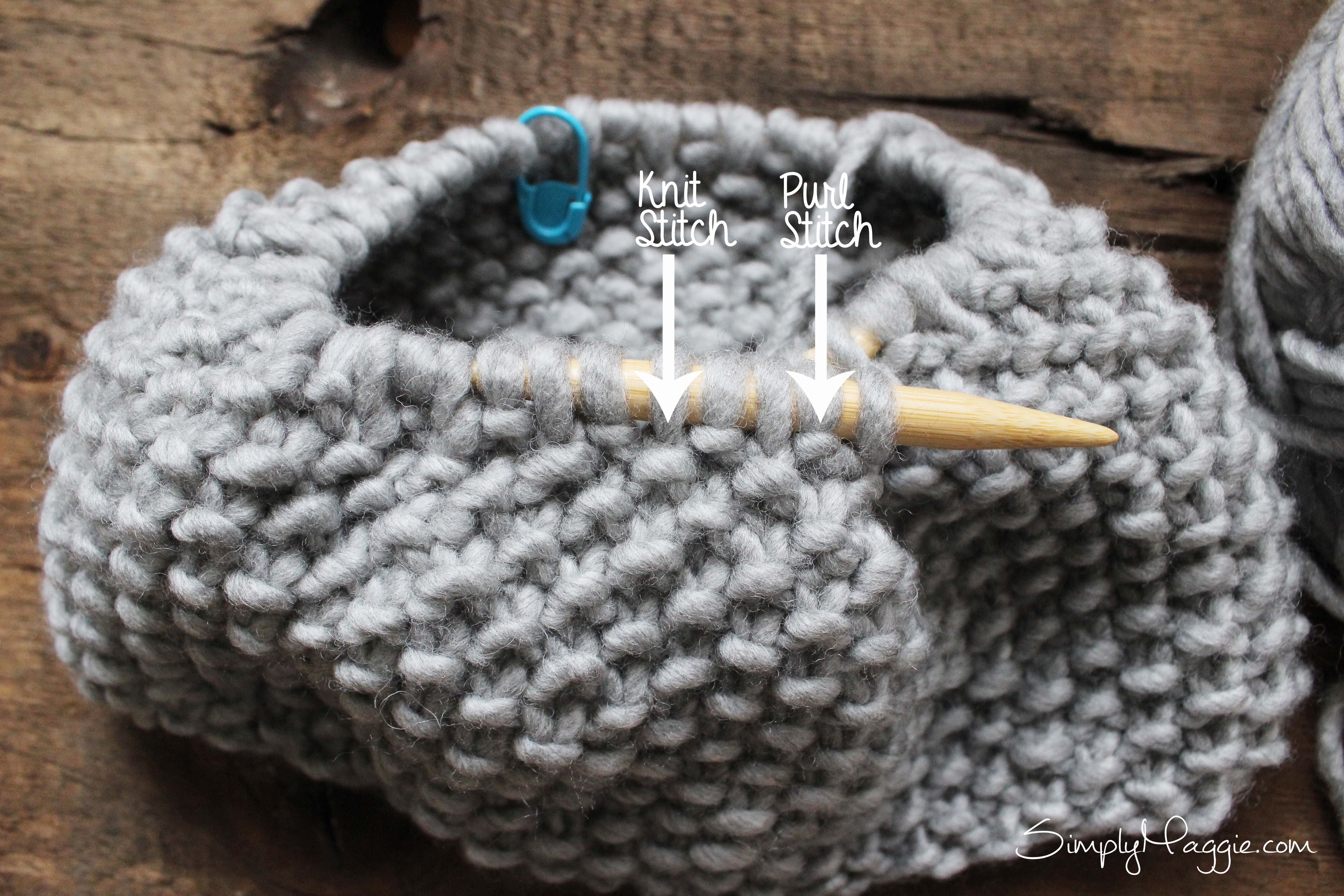 Double Moss Stitch Knitting In The Round : Moss stitch cowl pattern simplymaggie