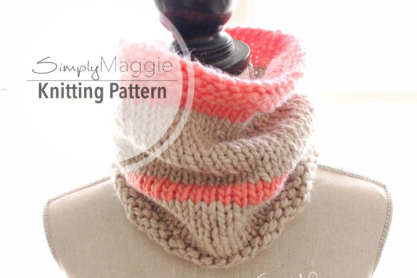 Striped Cowl Listing Photo