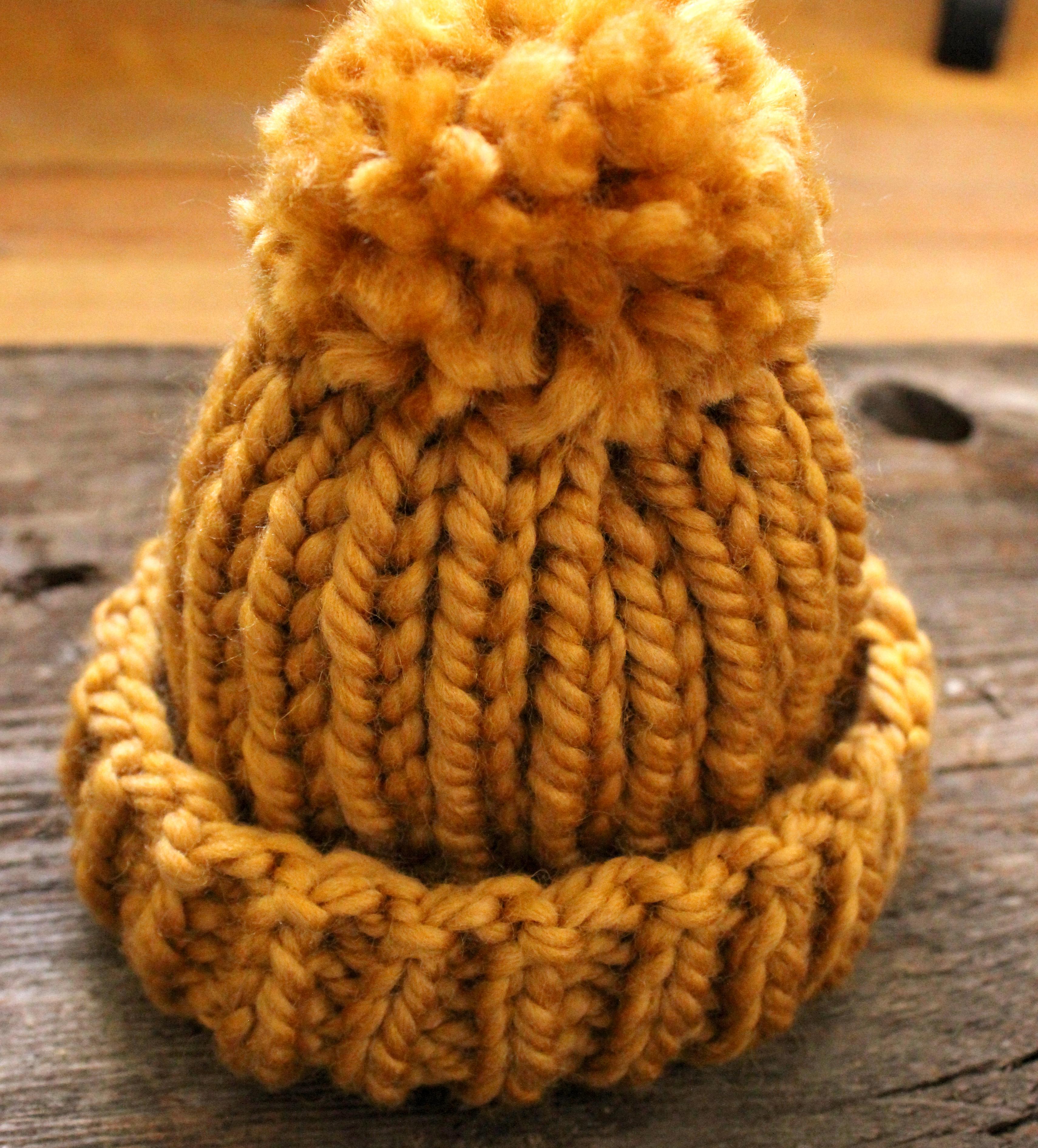 Simple Baby Hat with Pom-Pom | SimplyMaggie com