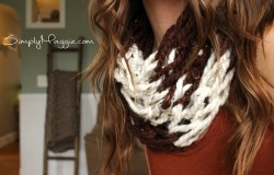 DIY Arm Knit Striped Scarf Pattern with Simply Maggie