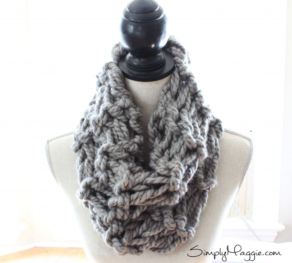 Garter Stitch Arm Knit Scarf