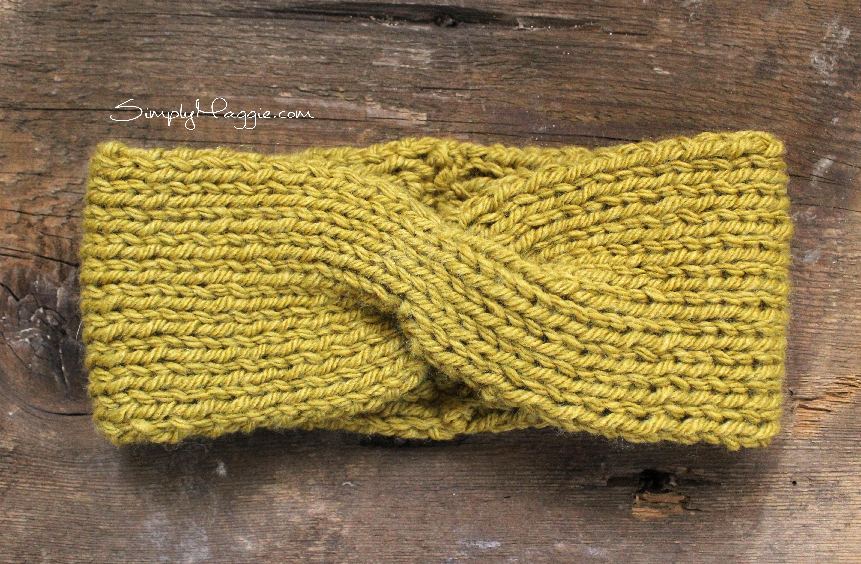 Turban Style Knit Headband SimplyMaggie.com