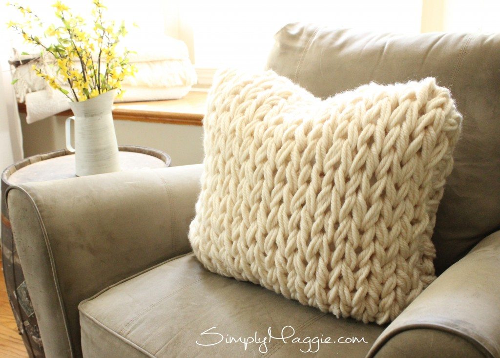 Super Cozy Arm Knit Pillow