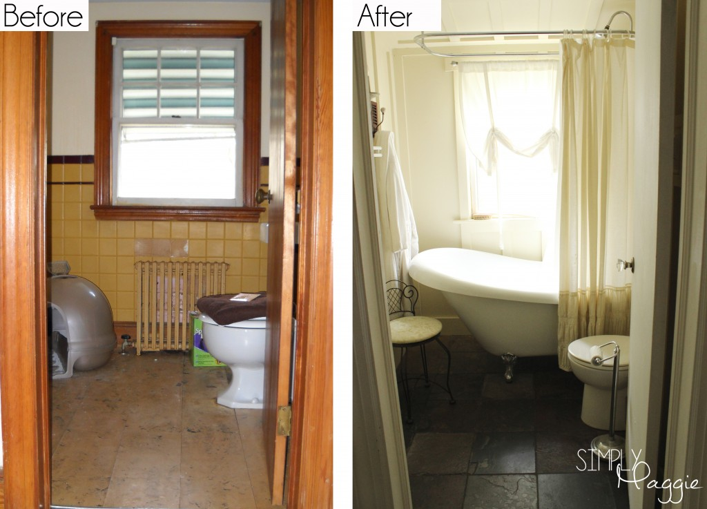 cottage bathroom renovation before and after. Black Bedroom Furniture Sets. Home Design Ideas