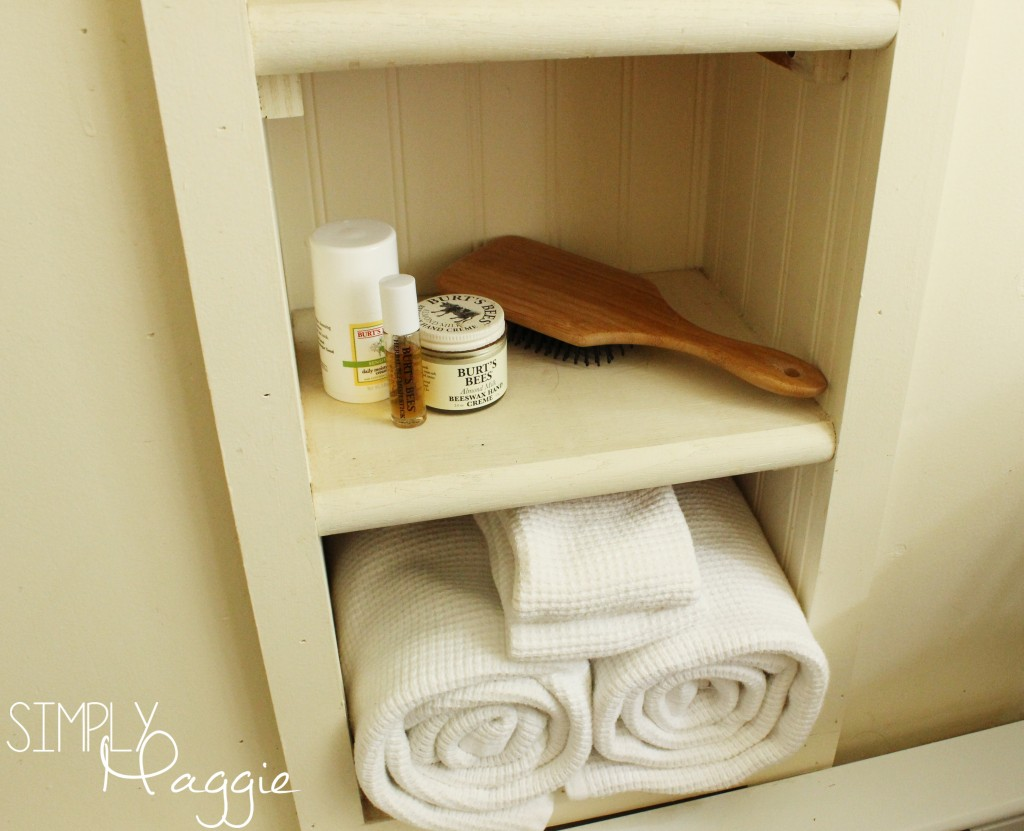 Built in for towel storage | SimplyMaggie.com