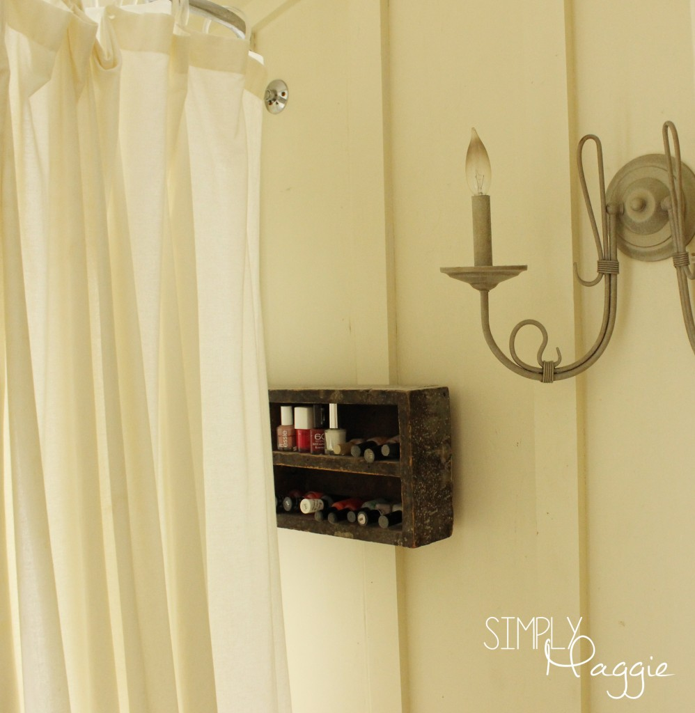Cottage sconce and cottage nail polish storage | SimplyMaggie.com