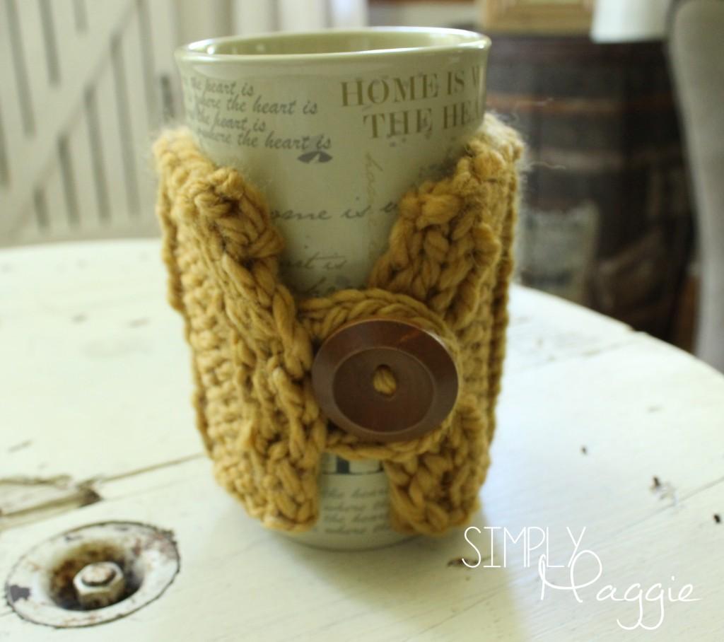 Chunky, Knit Rib Stitch Mug Cozy Pattern - Simply Maggie