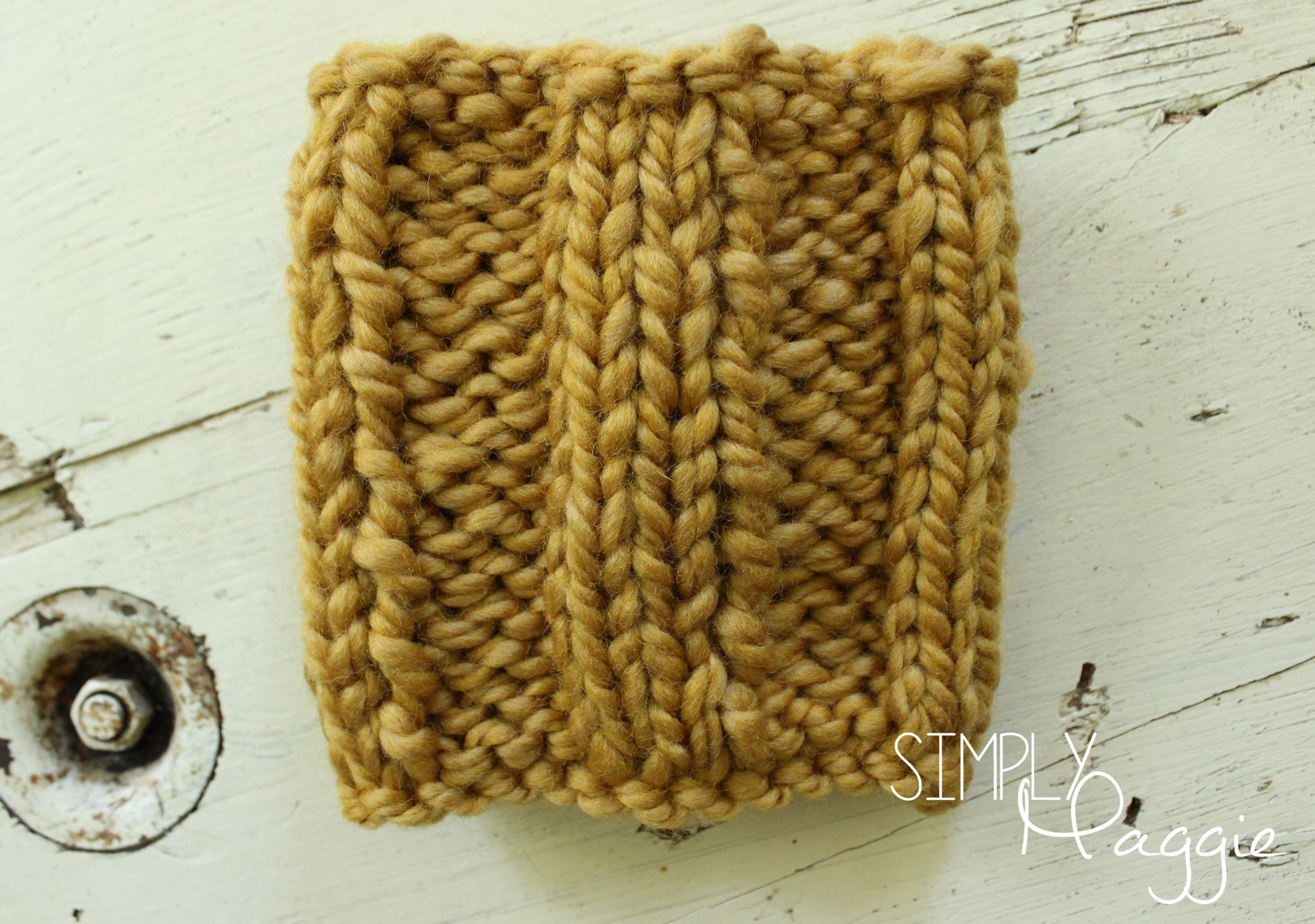 Shawl Patterns Knitting Free : Chunky, Rib Stitch Mug Cozy, Free Pattern - Simply Maggie SimplyMaggie.com