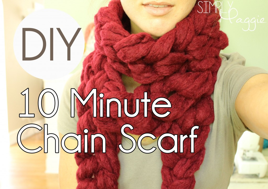 10 Minute Chain Scarf tutorial   Simply Maggie