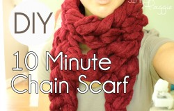 10 Minute Chain Scarf tutorial | Simply Maggie