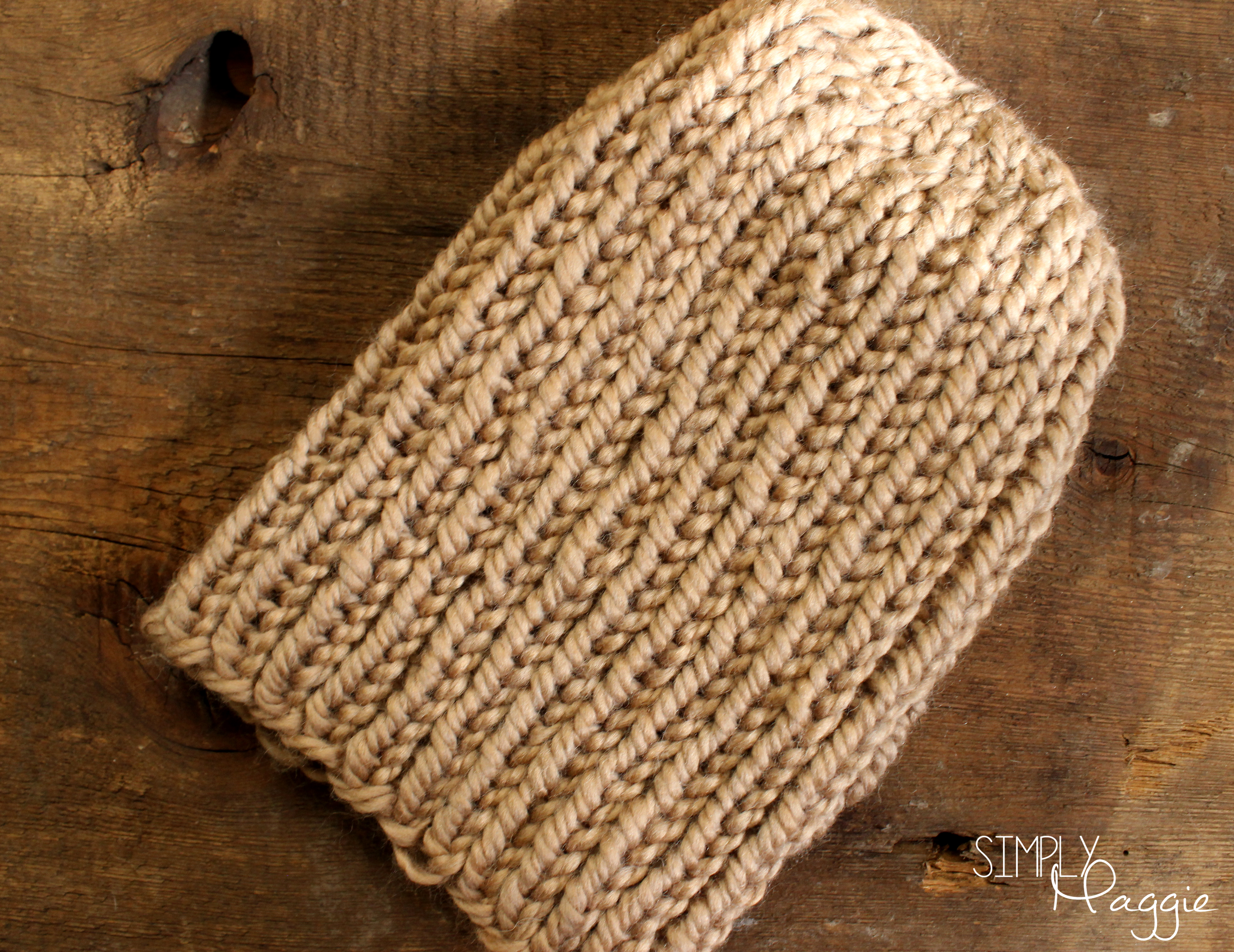 Slouchy Knit Purl Hat SimplyMaggie.com