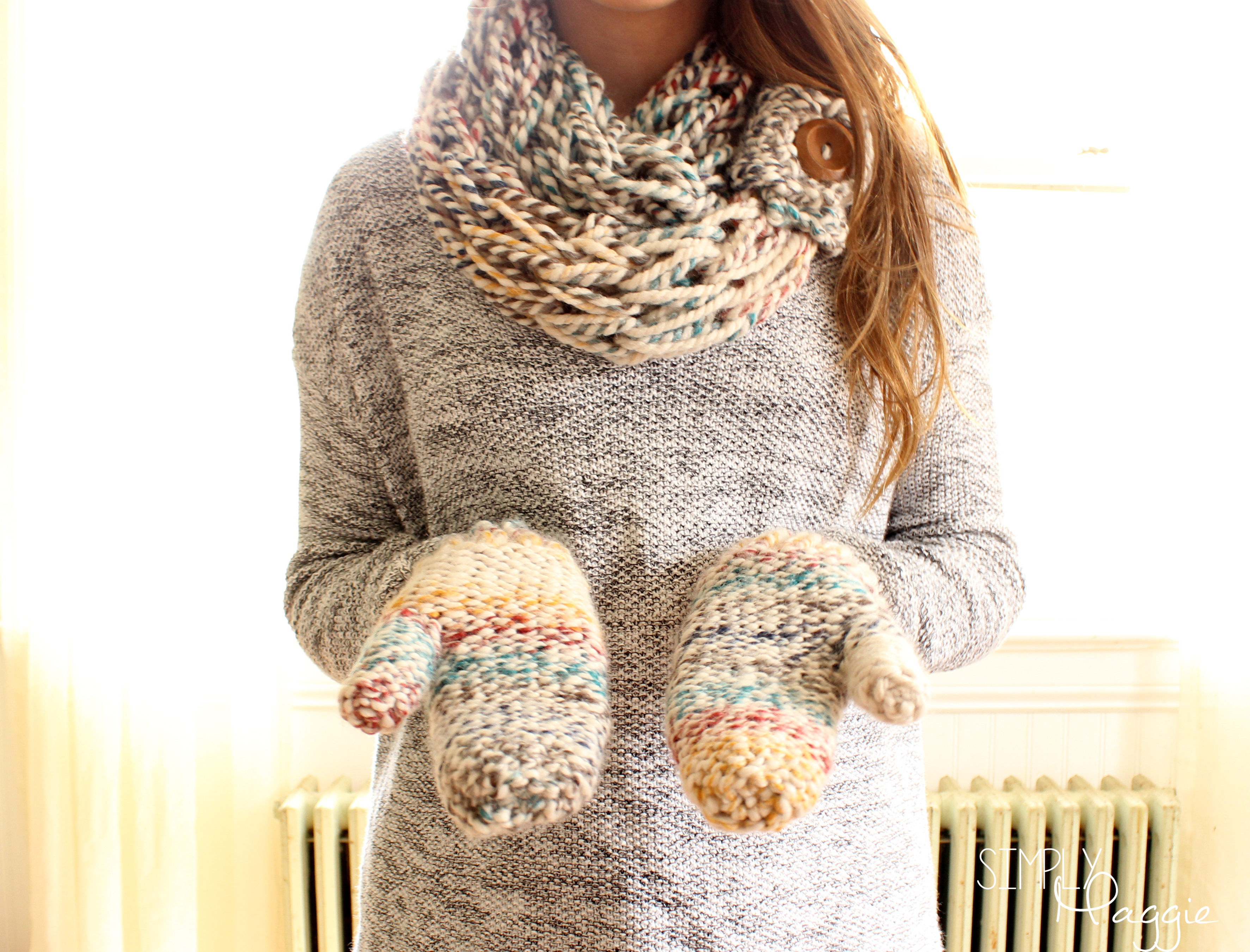 Chunky Mittens Pattern One Skein Project Simplymaggie Com