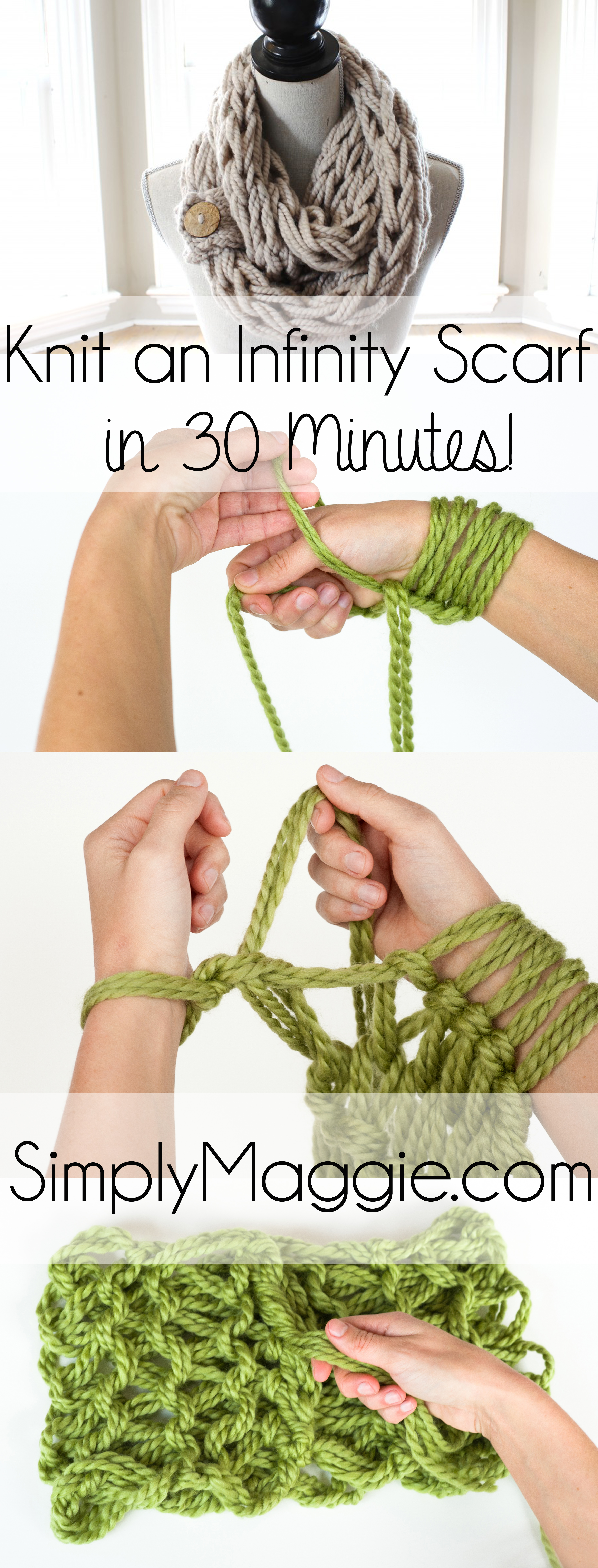 Knitting With Your Arms Instructions : The basics of arm knitting simplymaggie