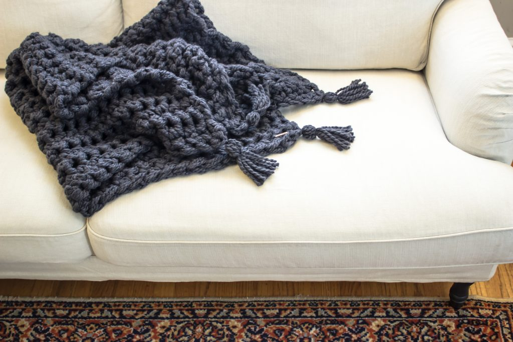 How To Hand Crochet A Blanket In One Hour Simplymaggie