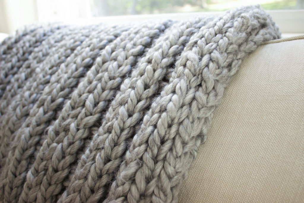 Knitting Rib Stitching : Chunky throw knitting pattern blanket knit kit super