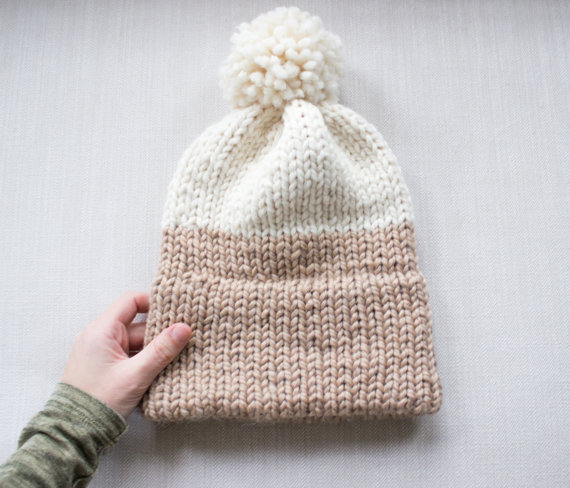 Knit Pattern Beanie With Brim : Double-Knit Brim Slouchy Beanie Pattern, Simply Maggie ...