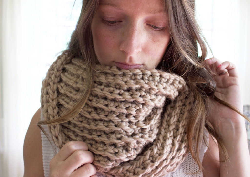 Crochet Pattern Ribbed Infinity Scarf By Simply Maggie