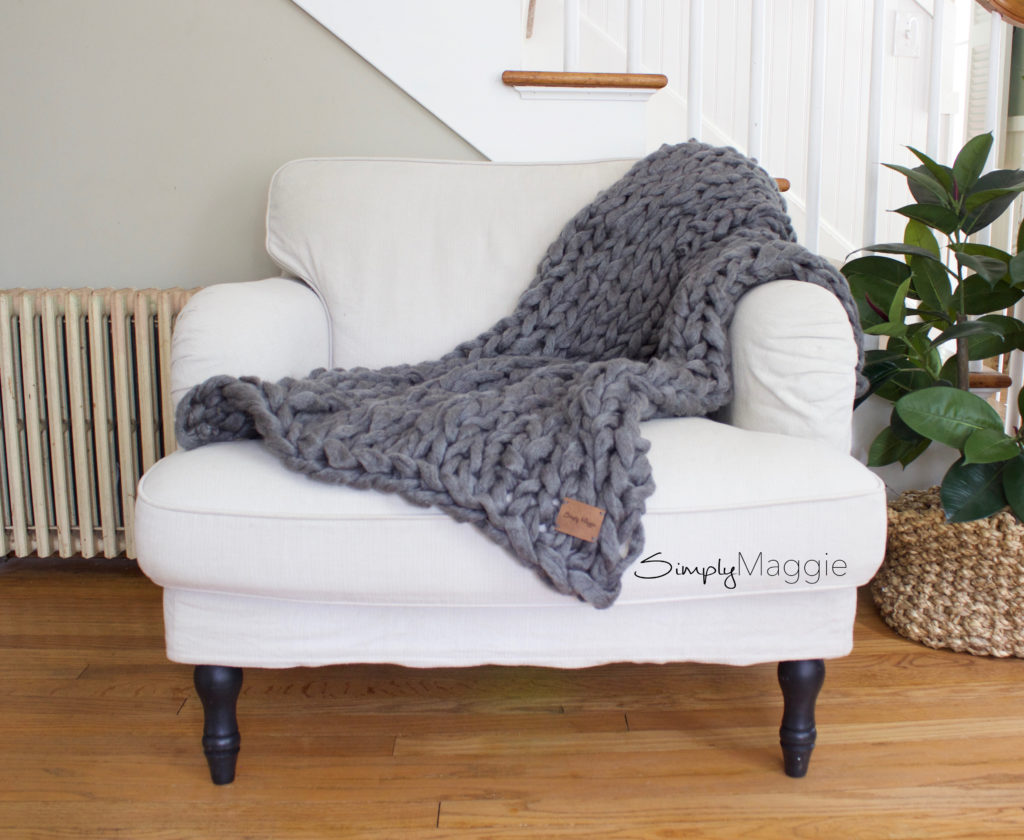45 Minute Arm Knit Blanket