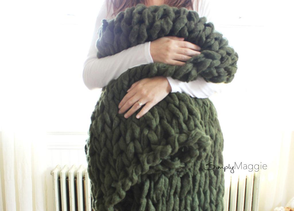 45 Minute Arm Knit Blanket 2