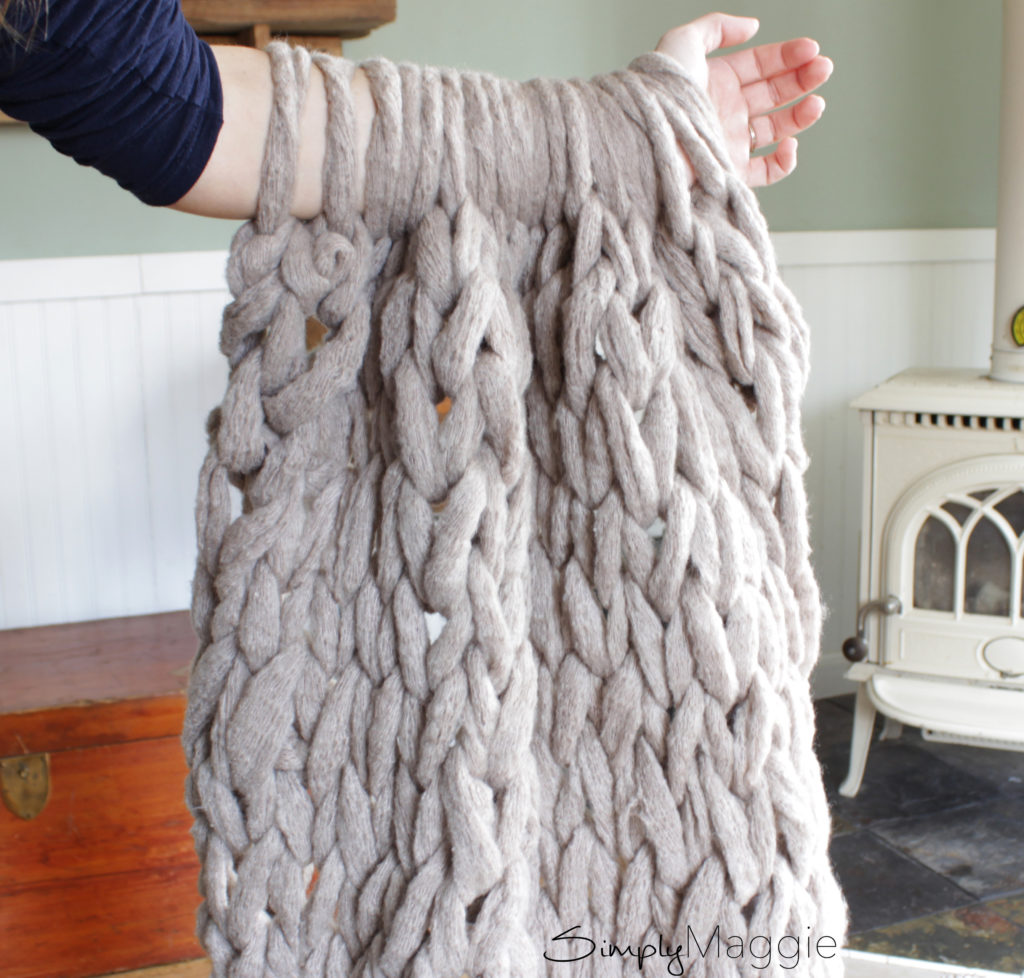 45 Minute Arm Knit Blanket 3