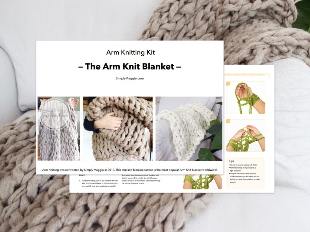 Arm Knitting Kit Blanket