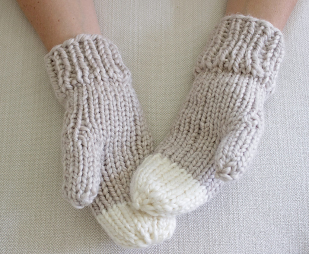 Chunky Knit Mittens Pattern by Simply Maggie ...