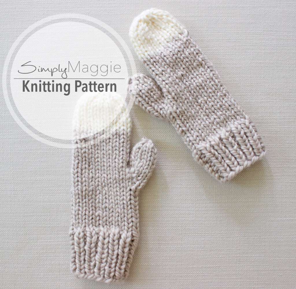 Chunky Knit Mittens Pattern by Simply Maggie | SimplyMaggie.com